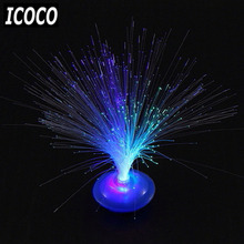 ICOCO Chrismas Party Bar Decor Beautiful Romantic LED Lamp Color Changing LED Fiber Optic Nightlight Lamp Small Night Light