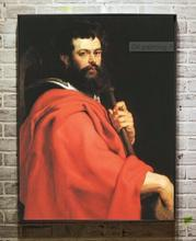 100% hand painted on canvas nice Oil painting Peter Paul Rubens - Male portrait St James the Apostle on canvas(China)