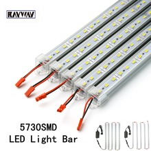 LED Strip Light Bar DC12V 36 leds SMD 5730 Hard Rigid LED Strip Light with U Aluminium shell + PC Cover+DC Connector+ 5A Adapter