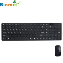 Binmer Mecall 2.4G Multimedia Wireless Mouse and Keyboard Set for Desktop Laptop PC