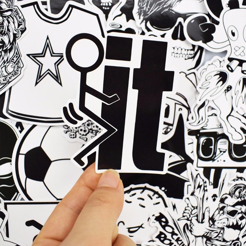 101 шт. Черный и белый Стикеры сноуборд стайлинга автомобилей сани коробка Чемодан холодильник игрушки Виниловая Наклейка Home decor DIY Прохладный Стикеры s
