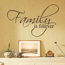Hot Sale New Design Family Is Forever Home Decoration Quote Wall Decal Decorative Removable Vinyl Wall Sticker(China)
