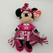 MINNIE cheerleader mouse 20CM ty sparkle plush Toys Stuffed Animals New Year children Gift Children toy soft toys kids toys(China)