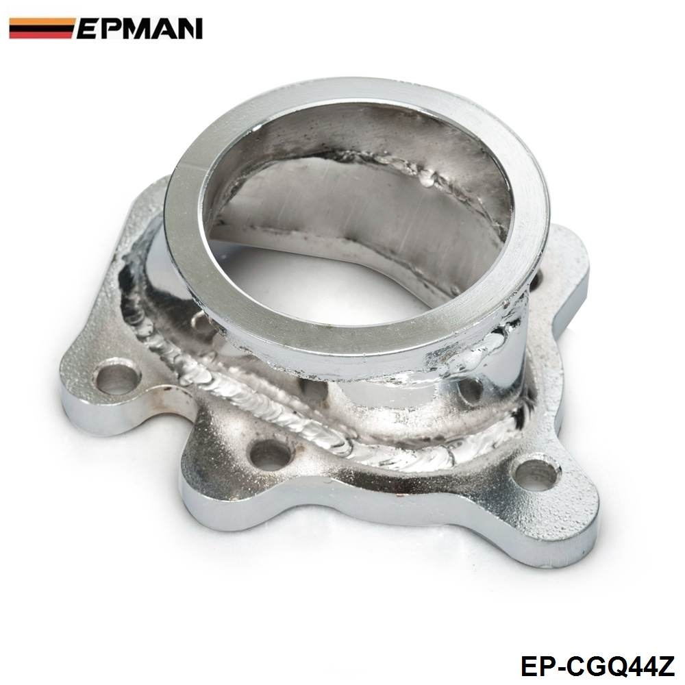 """EPMAN -For GT25 GT28 T25 T28 Turbo Down Pipe 5 bolt to 2.5"""" 63mm V band Flange Adapter  EP-CGQ44Z"""