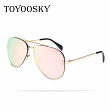 TOYOOSKY Men Women Sunglasses Aviation Driving Flash Mirror Lens UV400 Protection Eyewear Female Pilots Sun Glasses Oculos De So