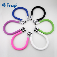 Frap New Arrival Multi-color Silicone Tube Flexible Hose All Direction for Kitchen Faucet 6 Colors Available F7250(China)