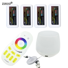 ZINUO Milight Led WiFi Controller + 4PCS 2.4G Led RGBW Controller Box + 1PC 4-Zone RF Remote Control For RGBW Led Strip Light