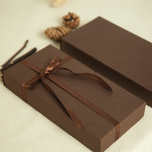 New 22*11.2*3.5cm 10pcs natural coffee Kraft Paper Box for gifts packaging boxes