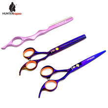 "6"" Professional Hairdressing Scissors set HT9162 Haircut Shears Razor+Cutting+Thinning Scissors Japanese 440C barber scissor kit"