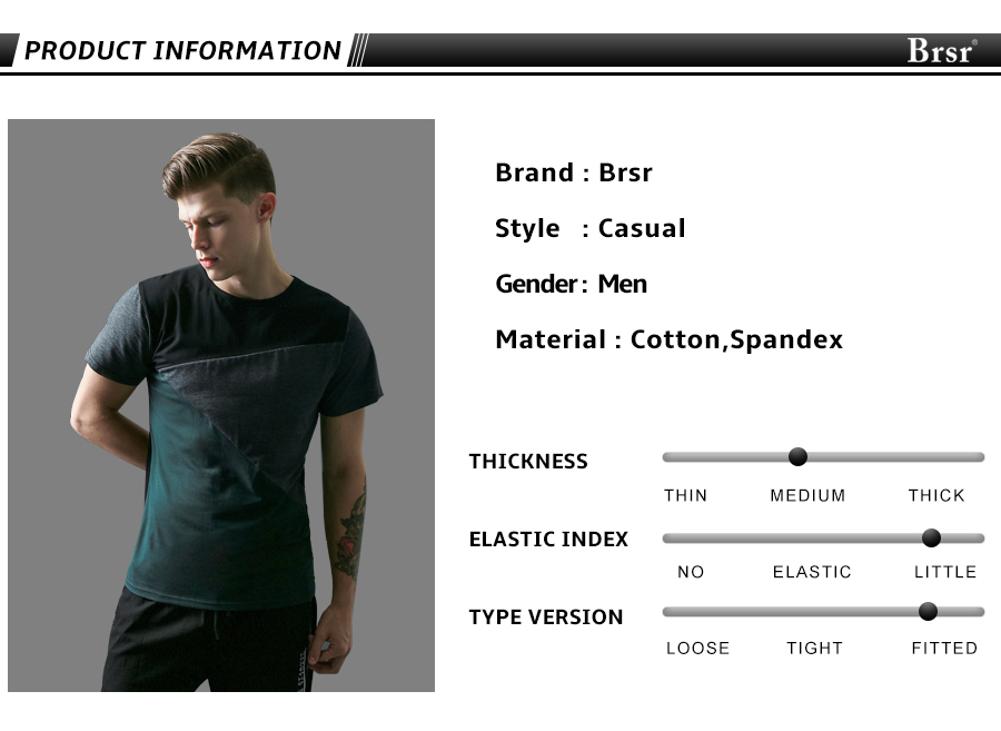 6 Designs Mens T Shirt Slim Fit Crew Neck T-shirt Men Short Sleeve Shirt Casual tshirt Tee Tops Mens Short Shirt Size M-5XL 3