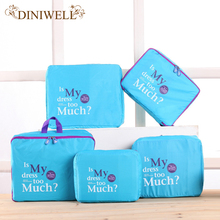DINIWLL Travel Storage bags Laundry Pouch Clothes Organizer Luggage Inner Suitcase Home Chest Wardrobe Drawer Divider Container(China)