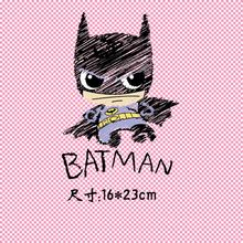 16x23cm/6x4cm Painted Bat Iron On Patches Heat Transfer Ironing Stickers For Clothing A-level Washable Heat Press Appliqued
