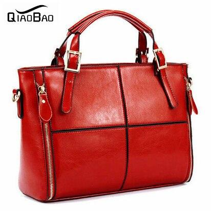 QIAOBAO 2017 Genuine Leather New Arrival Womens Bags Shoulder Bag Messenger Bag Cowhide Bags Patchwork Handbag<br>