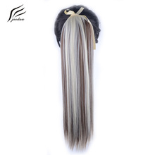 "jeedou Clip In Hair Ponytails 22"" Natural Long Straight Hairpiece Synthetic False Hair Drawstring Pony tail"