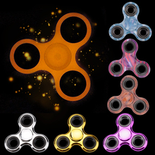 Buy Fidget Spinner Glow Dark Metal Spinner EDC Hand Spinner ABS ADHD Rotation Stress Relief Fidget Tri-Spinners Handspinner Toys for $1.48 in AliExpress store