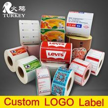 1000pcs/lot custom label sticker  round  fruit sticky glossy paper printing labels