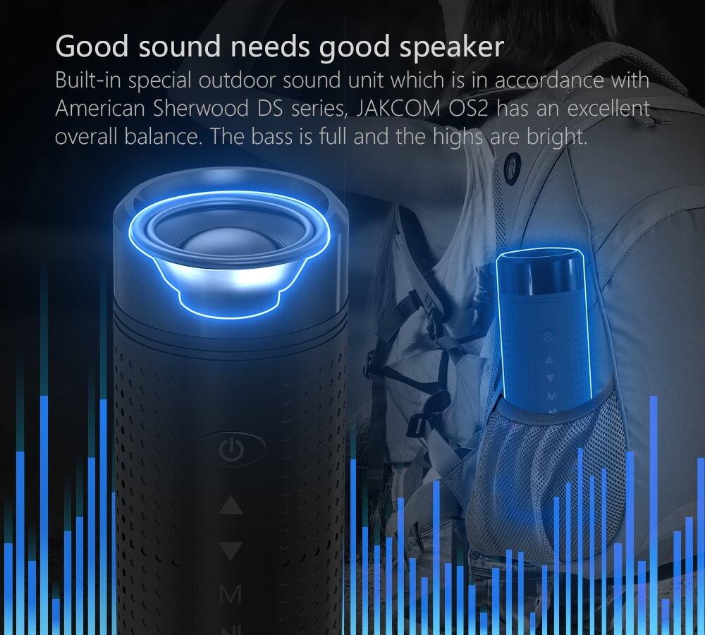 JAKCOM OS2 Smart Outdoor Speaker Hot sale in Stands like game clip mount Headphones Tv Gps Navigation Hud Head