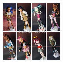 30pcs/lot, 30items=Dress+Shoes+Hangers+bags Fashion Clothing For Original Monster Hight Dolls,accessories for monster high doll(China)