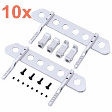 10Sets Aluminum Alloy Side Pedal Plates for 1/10 Axial SCX10 RC Rock Crawler Truck Hop Up Parts(China)
