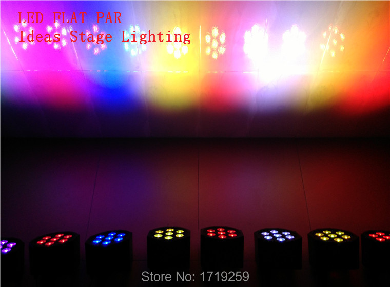 LED Luxury DMX 7 Channels Led Flat Par Light 7x9W RGB 3IN1<br><br>Aliexpress