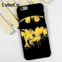 LvheCn phone case cover fit for iPhone 4 4s 5 5s 5c SE 6 6s 7 8 plus X ipod touch 4 5 6 back Batman Bat Logo Marvel Comic Movie(China)
