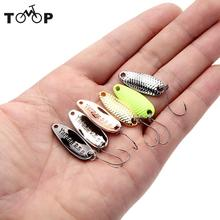 Yapada 6Pcs/lot Spoon Bait 3.5g 2.5g 1.5g Loong Scale Fishing Spoon Lure Spoon Sequin Paillette Metal Fishing Lures Hard Bait