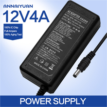 ADX-7MBK4NA-12 Power adaptor AC 100-240V to DC 12V 4A Power Supply Adapter UK,US,EU,AU plug,New lcd adapter,12V4A FULL AMPERE
