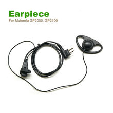 5PCS D Shape Earpiece Headset Mic For 2-pin Motorola GP2000, GP2100, GP300