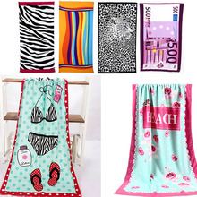 Colorful Stripe Big 70*140cm Hot Sale Water Absorbent Microfiber Bath Beach Towel Fast Drying(China)