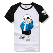 Lovely game undertale character Sans printing t shirts Undertale t shirts game fans daily wear gift t shirt lycra cotton DX06(China)