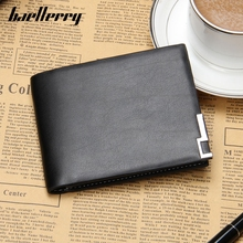 Baellerry Brand New Short Chess Wallet Men's Leather Wallet Designer Man Bag Zipper Bag Money Solid Bags Fine Card Holder Casual(China)