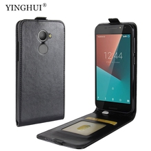 "Case For Vodafone N8 5.0"" Flip Leather Cover For Vodafone Smart N8 VFD-610 Mobile Phone Bags Case With Card Slot(China)"