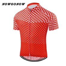 custom 2017 cycling jersey men red white team clothing bike wear NOWGONOW racing road mountain summer short sleeve Quick Dry