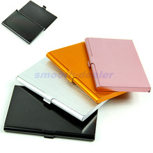 On Sale 1PC Aluminum Alloys Pocket Business Name Card Holder Credit ID Card Case Metal Box Cover