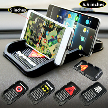 Cartoon car phone holder Soft Silicone Anti Slip Mat mobile phone mount stands Bracket support gps for iphone 5 6s plus samsung