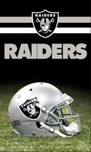 Oakland Raiders logo with helmet flag 3x5ft 100D Polyester digital banner 90x150cm 2 metal grommets