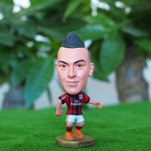 Kodoto 6.5 cm Height Resin Football Star Doll Milan 92 Shaarawy Mini Figure Red Black Collections Gift