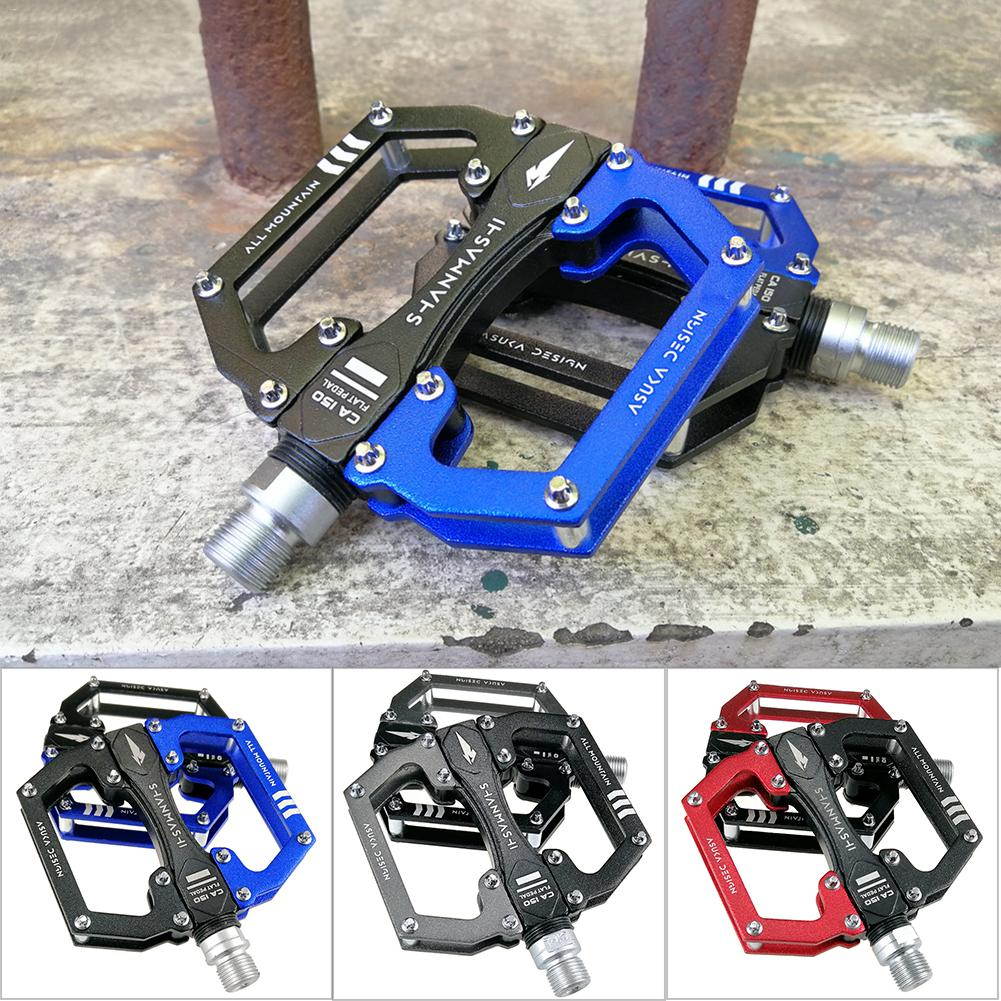 "Bike Pedals Flat Platform Bicycle Cycling Sealed Bearing Pedal MTB 9//16/"" DH BMX"