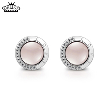 Christmas Gift Jewelry Romantic Ross Quartz Stud Earrings For Women Fine jewelry Top Quality!! Free Shippings
