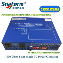 AC220V Hybrid solar inverter 1000W/1KW Surge Power 2000W/2KW with build in 12V 24V 30A solar battery charger controller 5V usb