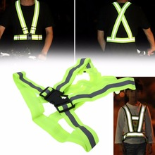 Buy Visibility Reflective Adult Safety Security Vest Gear Stripes Jacket Hiking Riding Cycling Outdoor Sports Night for $3.43 in AliExpress store