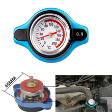Hot 0.9 Bar Car Auto Thermostatic Radiator Cap Cover with Water Temp Temperature Gauge Big Head