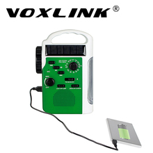 VOXLINK Solar Radio Portable FM/AM Hand Crank Emergency Receiver Bluetooth Speaker Flashlight Support Mp3 TF Card Radios