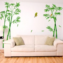 Green Bamboo Forest Wall Stickers PVC Material Decorative Films Living Room Cabinet Decoration Home Decor Stickers Y20