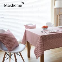 Fashion Art Stripes Table Cloth  Nordic Simple Cotton Linen Tablecloth Lace Tablecloth Wedding Gift Toalha De Mesa Kitchen Table