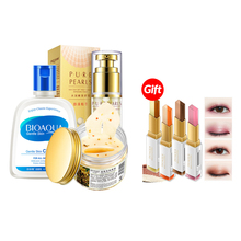 Buy 3 Get 1 Gift BIOAQUA eye masks anti-aging anti-puffiness collagen new eye creamsFacial cream Eyeliner stamp(China)