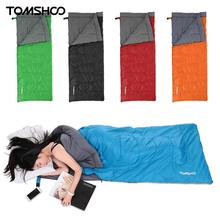 TOMSHOO 190 * 80cm Sleeping Bags Type Polyester Sleeping Bags Camping With Compression Bag Camping Equipment 300g 190T polyester(China)