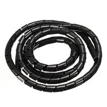 THGS-16 Feet Spiral Wire Wrap Tube Manage Cord Best For PC Computer Cinema Home Cable 16mm(China)