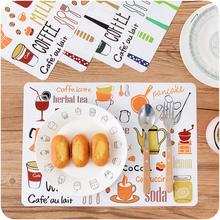 40*28cm Kitchen Tool Printed Dining Table Mat PP Plastic Heat-insulated Tableware Pad Non-Slip Placemat Waterproof Mat Bowl Pads(China)