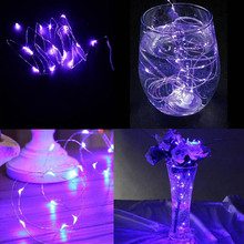 LED lamp AA battery powered on 10M100LED 33ft Christmas Lights Festival fairy Wedding Garden decorative silver wrie lamp string